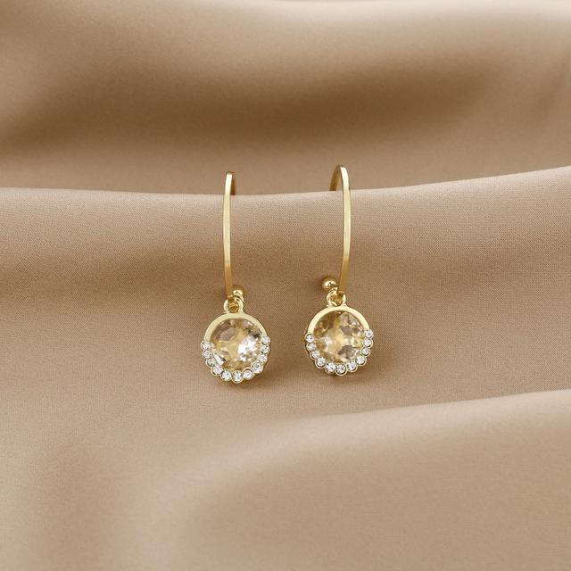 CX5207  水晶鑲鑽C型耳圈時尚個性耳環