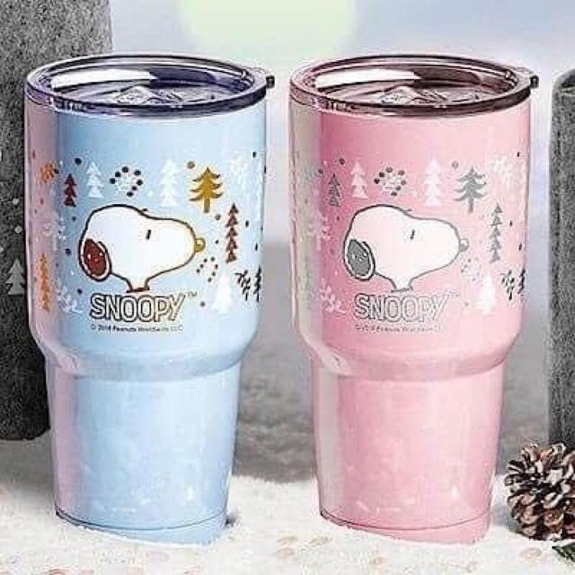 史努比-陶瓷真空冰霸杯(⭐️藍色/⭐️粉色)