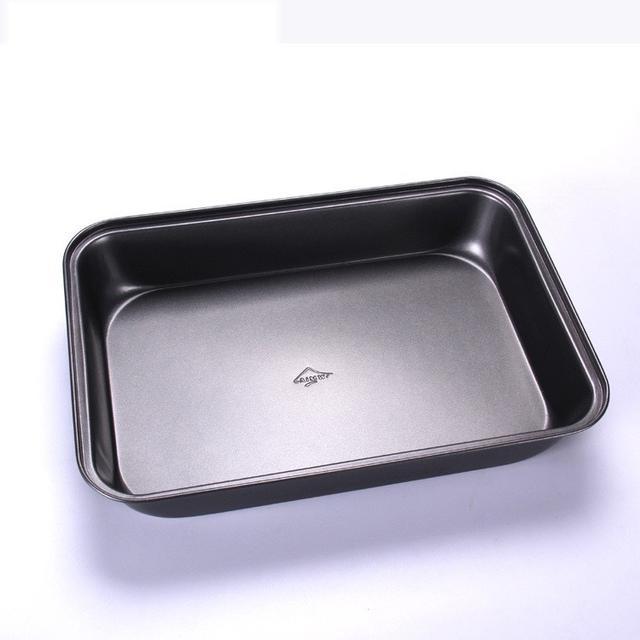 長方形加深不粘烤盤 加深蛋糕卷模具 披薩盤 烘焙烤箱用 平底烤盤