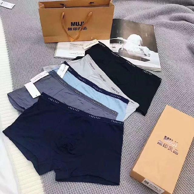 預購商品11/12結單  外貿原單MUJI無印良品 男生內褲5條禮盒裝