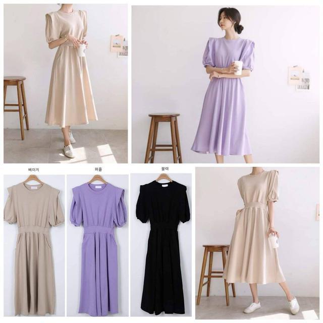 『預購🇰🇷正韓』氣質純色洋裝