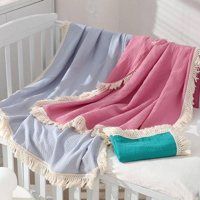 『預購』ins純色流蘇被/寶寶蓋毯