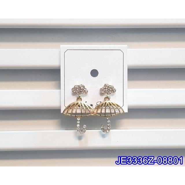 ❣️ 正韓S925純銀 閃鑽雲朵鏤空雨傘耳環   耳針 韓式❣️