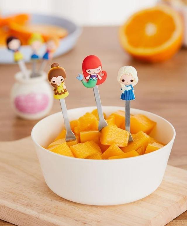 最後14組迪士尼公主陶瓷水果叉組
