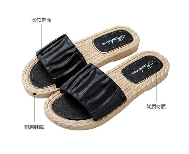 (預購s+) C014-甜美微皺波浪平底鞋