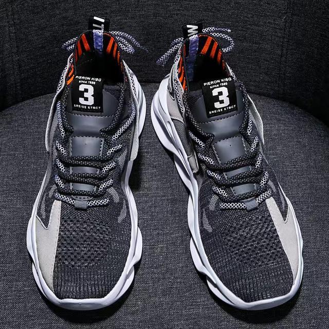 2020新款夏季飛織運動鞋韓版潮流男鞋百搭男士透氣跑步鞋