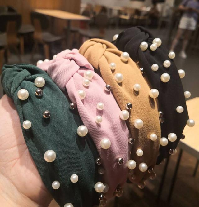 東大門珍珠復古簡約頭箍