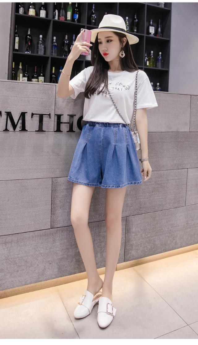 【預購】A字型牛仔寬鬆短褲