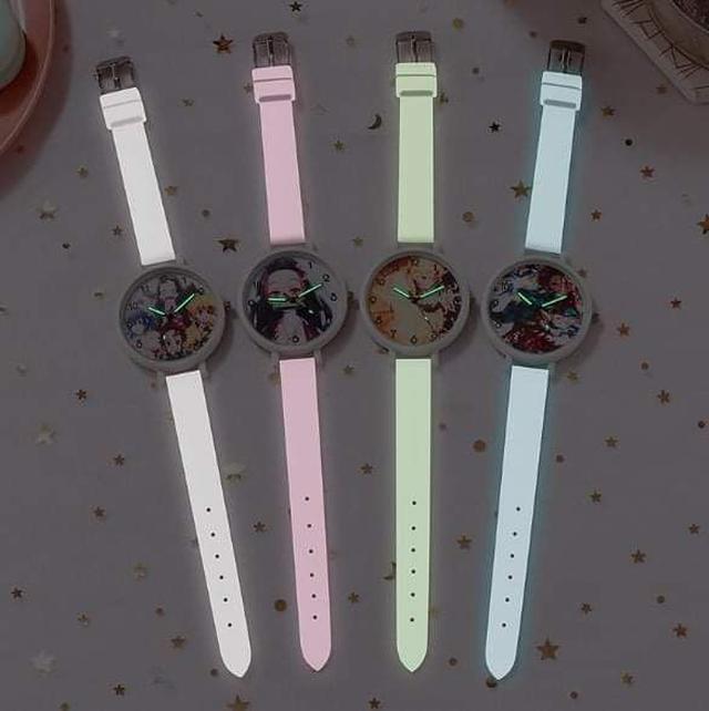 (預購S) N069 - 鬼滅之刃發光錶帶手錶