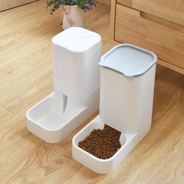 狗狗喝水器自動餵食器貓咪自動飲水機貓碗雙碗狗盆飲水器寵物用品