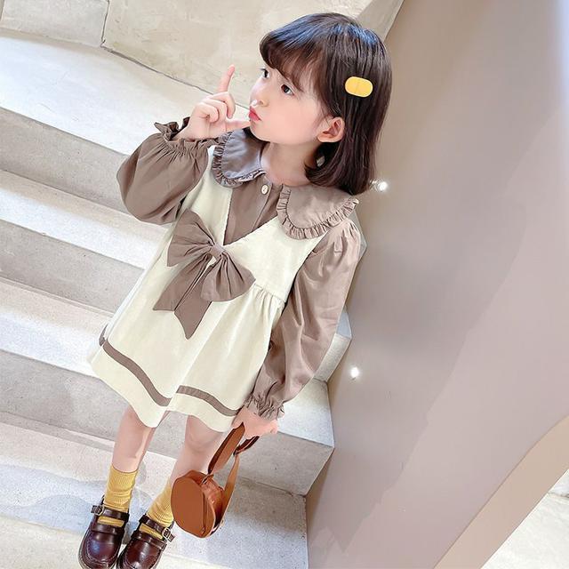 女童兔子背帶裙二件套女寶寶秋季新款兒童韓版時尚中小童洋氣套裝