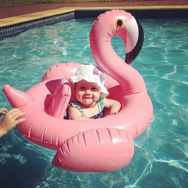 兒童泳圈中可愛游泳圈坐圈漂浮學游泳裝備女孩LSJ19072105