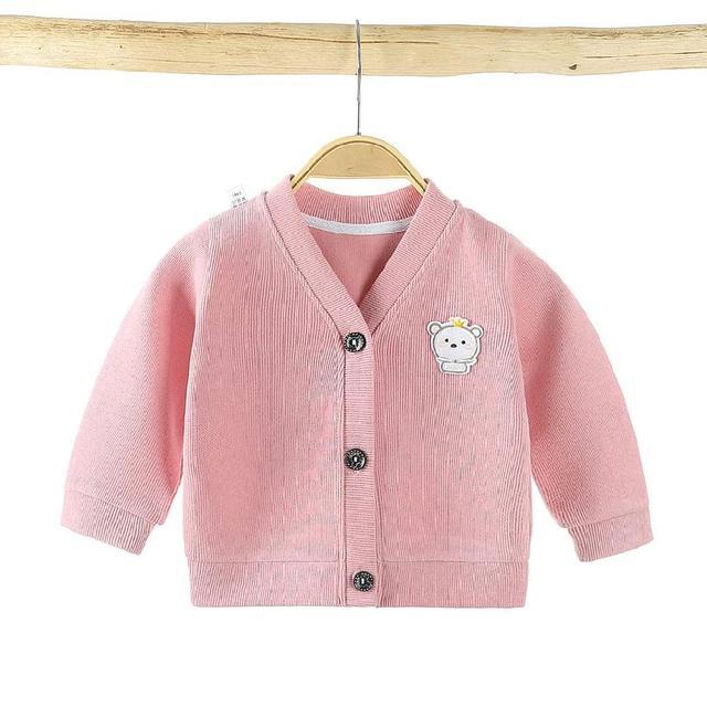【預購】寶寶V領針織外套