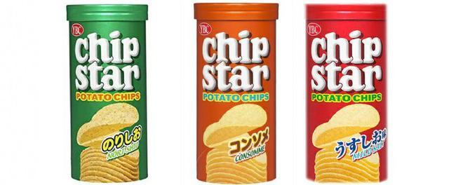 YBC Chip Star洋芋片50g-雞汁橘/薄鹽紅/海苔綠
