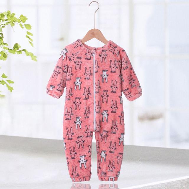 【預購】寶寶法蘭絨連身睡衣