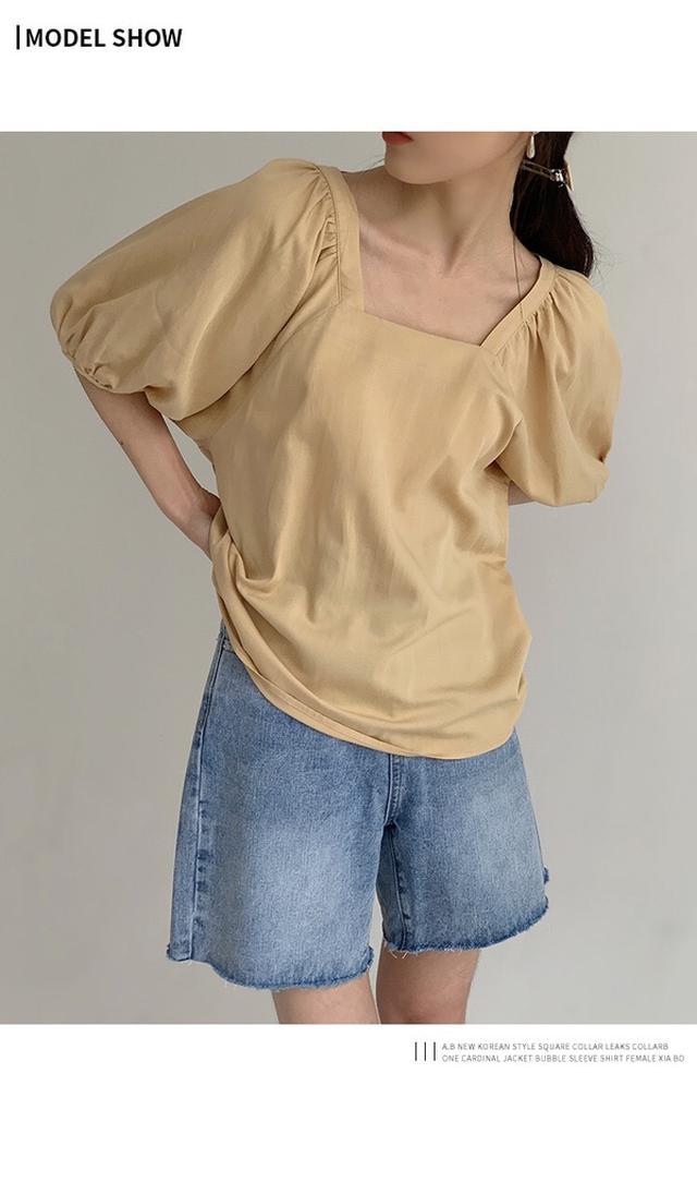 泡泡袖襯衫