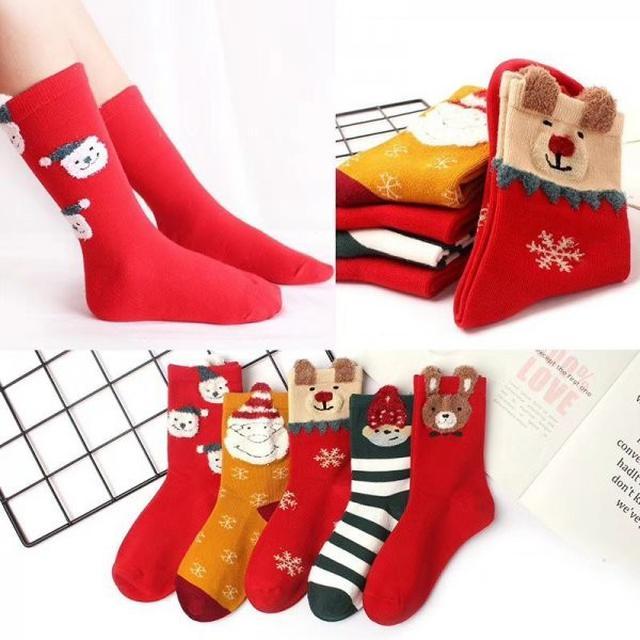 聖誕中筒襪