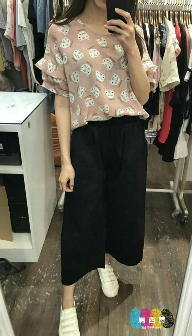 簡約鬆緊口袋寬褲🔰預購14-20(不含例假日)