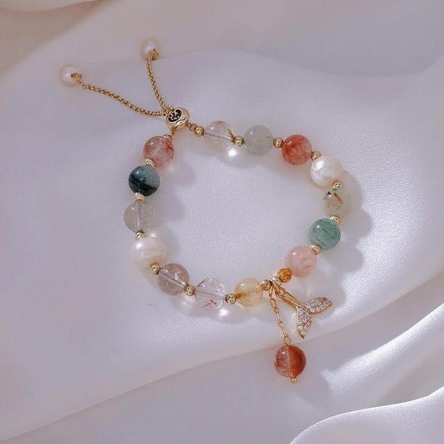 🌟現貨🌟彩色水晶魚尾手鏈