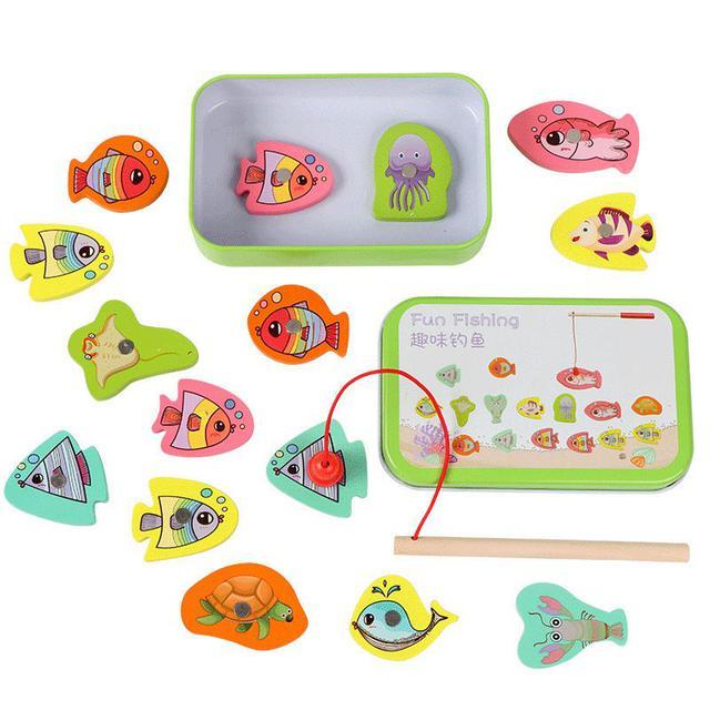 【預購】新款兒童益智鐵盒磁性釣魚玩具組