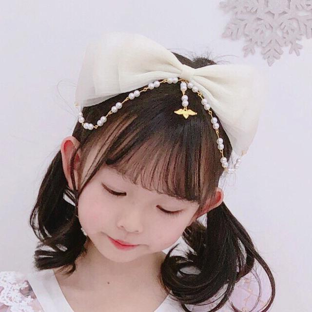 (預購)(限量)女童手工洛麗塔珍珠髮飾