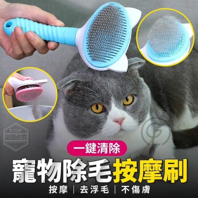 預購-一鍵清除寵物除毛按摩刷【款式隨機】-11/3下午3點收單