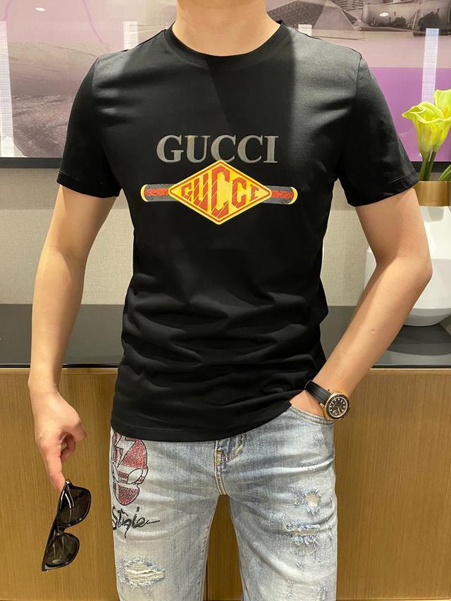 原單 Gucci 、2021ss春夏新款、男士短袖T恤