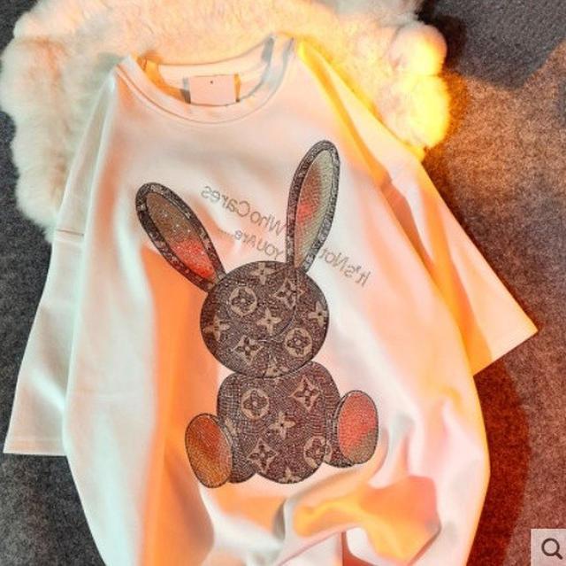 廠現 印花小兔T恤 4碼 3色