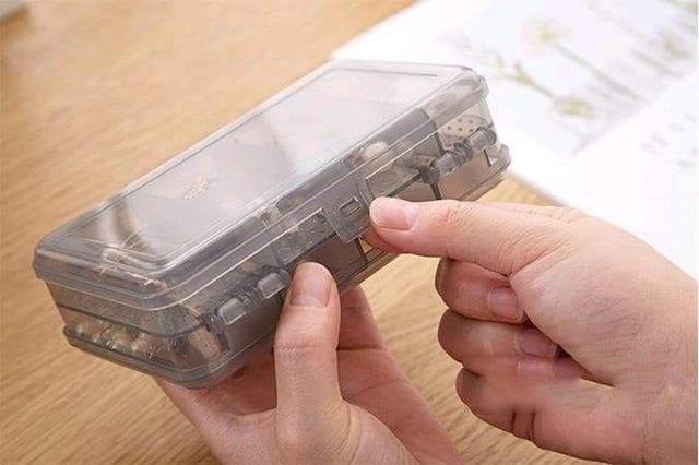 (預購S) 雙層分隔透明飾品小物收納盒