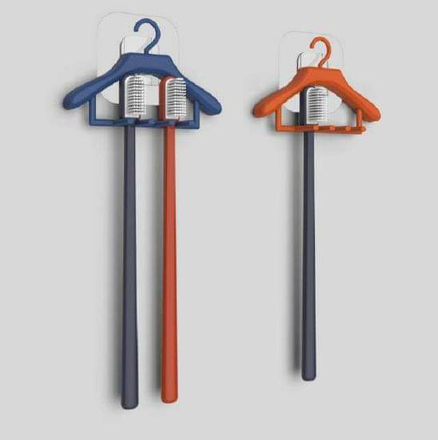 (預購S) G519 - 創意衣架造型牙刷架(一組兩個)