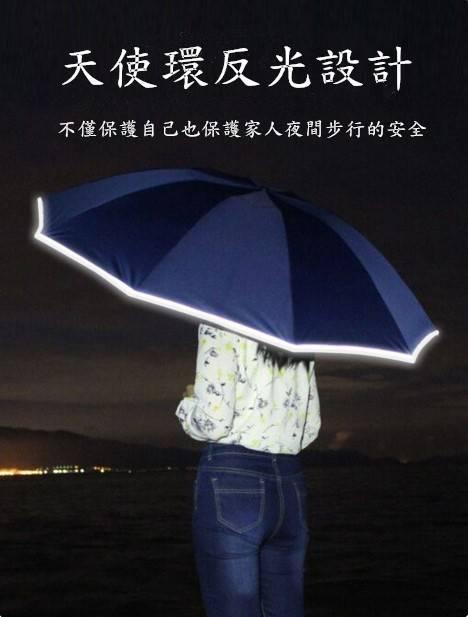 全自動反向三折反光雨傘