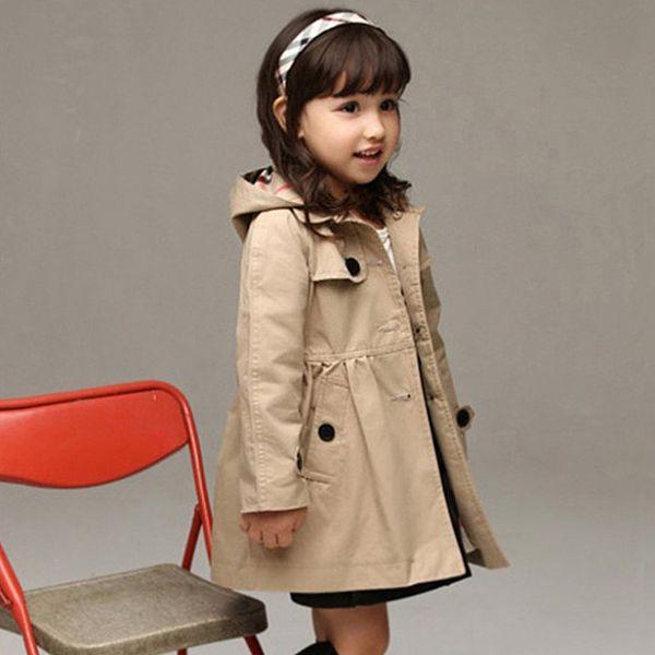 秋季韓版女童風衣