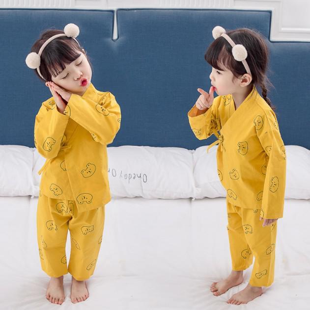 11 80-130 小童裝 日系純棉和服家居服套裝 85191
