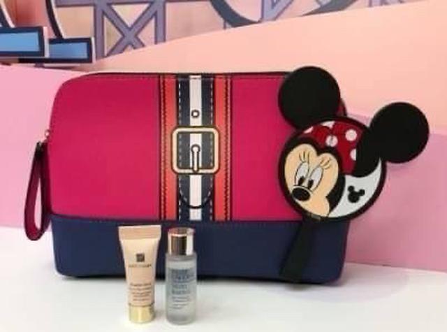 雅詩蘭黛 時尚撞色旅行包 + 米妮限定愛漂亮造型鏡乙個