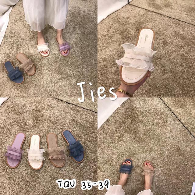 預購 仙女網紗一字拖鞋