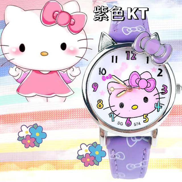 兒童手錶女孩冰雪奇緣小學生女童卡通KT貓女生10歲可愛公主電子錶