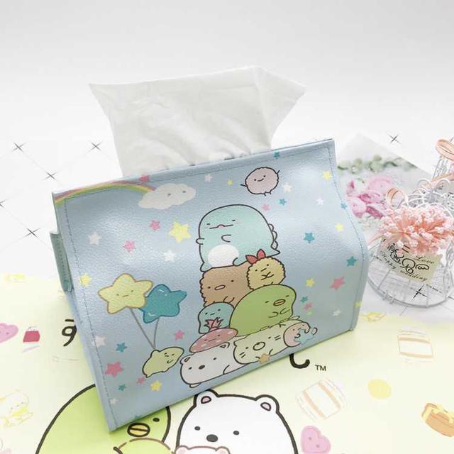 [雜貨店]💋角落生物藍色PU紙巾盒