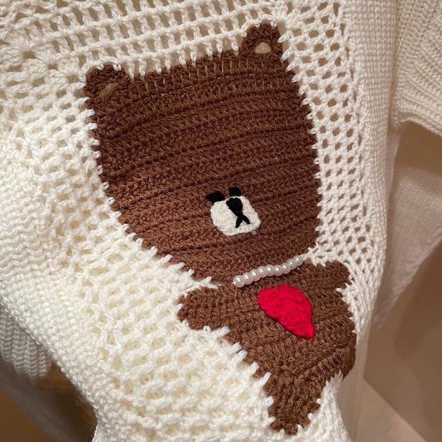 秋冬小熊毛衣