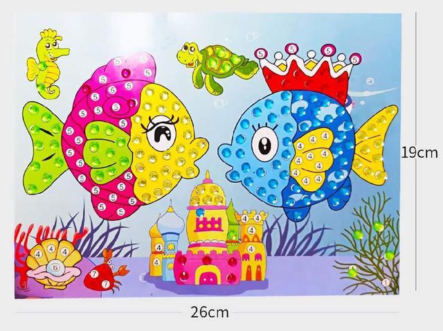 (預購s+) N011-兒童立體鑽石貼畫(一組10本)