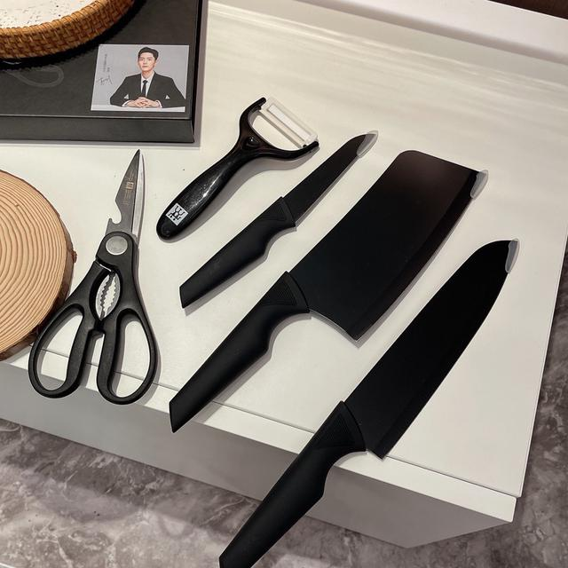 🔪· 德國高端廚具雙立人黑刀五件套