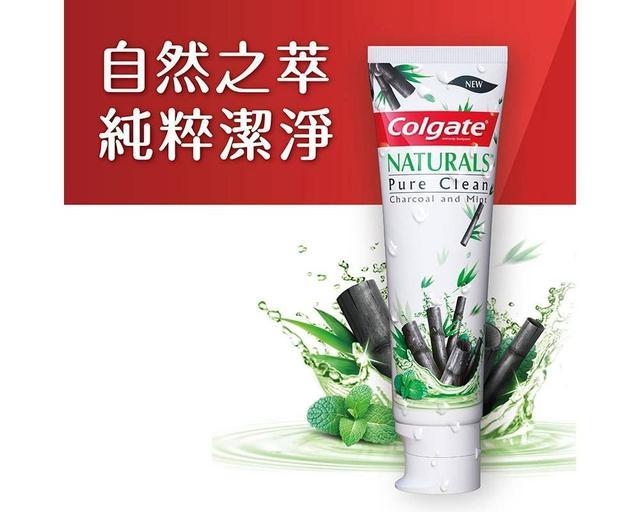 高露潔自然之萃純粹竹炭與薄荷潔淨牙膏