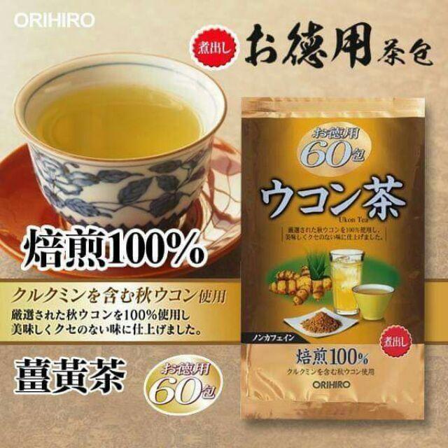 日本 ORIHIRO 薑黃茶 德用茶茶包 60小包