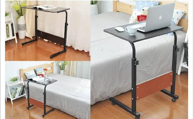 切貨可移動伸降床邊電腦桌