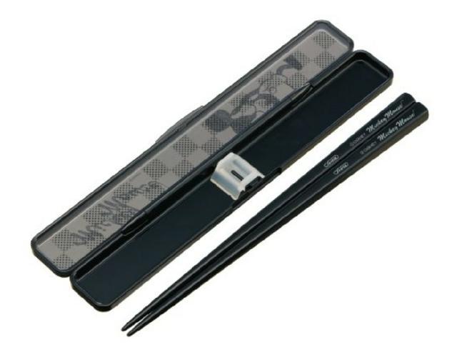 【SKATER】米奇環保筷-黒色音鳴