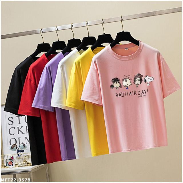 [現貨]夏季2020新款 卡通圖案-snoopy 印花短袖t恤