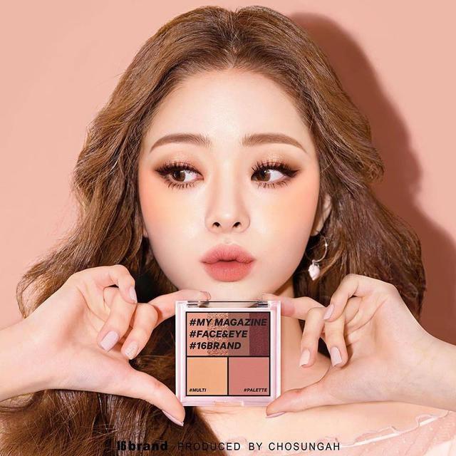 預購  韓國 16brand 迷你雜誌眼影腮紅修容盤 8.5g