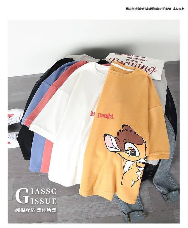 #新款寬鬆韓版生卡通上衣服