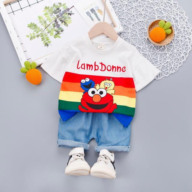 🍁預購/寶寶兒童芝麻街短袖T恤套装