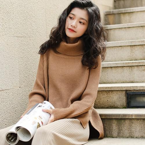 11 寬鬆厚實高領毛衣(3色)