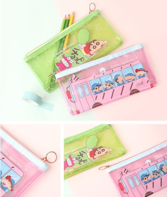 蠟筆小新果凍透明筆袋